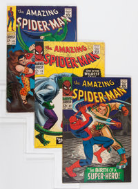 The Amazing Spider-Man Group (Marvel, 1966-67) Condition: Average FN/VF.... (Total: 3 Comic Books)