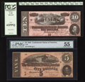 Confederate Notes:1864 Issues, T68 $10 1864.. T69 $5 1864.. ... (Total: 2 notes)