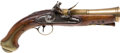 Handguns:Muzzle loading, C. 1780 Brass Mounted British Blunderbuss Pistol....