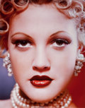 Photographs, LEN PRINCE (American, b. 1953). Drew Barrymore Close-Up, NYC, 1994. Digital color coupler, printed later. 38 x 29-1/2 in...