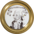 Political:3D & Other Display (pre-1896), George Washington: Battersea Curtain Tie-Back....