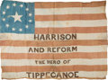 Political:Textile Display (pre-1896), William Henry Harrison: Great Campaign Flag....
