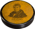 Political:Inaugural (1789-present), William Henry Harrison: Papier-Mâché Inauguration Snuff Box....