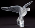 Art Glass:Lalique, LALIQUE CLEAR AND FROSTED GLASS DOVE TOURTERELLE . Post1945. Engraved: Lalique, France . 11-3/4 inches high (2...