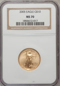 Modern Bullion Coins, 2005 G$10 Quarter-Ounce Gold MS70 NGC. NGC Census: (0). PCGSPopulation (177). Numismedia Wsl. Price for problem free NGC/...
