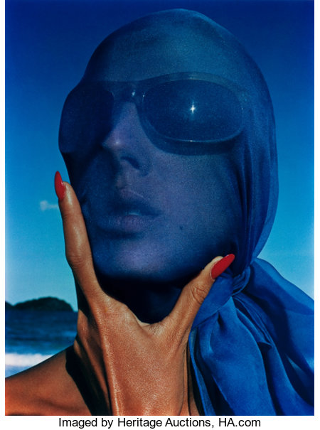 HIRO (American, b. 1930)Tilly Tizzani with Blue Scarf, Antigua, w.i. 5-63, 1963Dye transfer, printed later18-1/4 x...