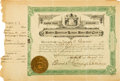 Baseball Collectibles:Others, 1901 Boston Red Sox Stock Certificate Number One--The Birth of aFranchise!...