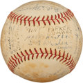 Autographs:Baseballs, 1936 Berlin Olympics United States Team Signed Baseball....