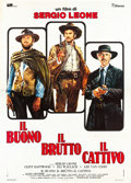 "Movie Posters:Western, The Good, the Bad and the Ugly (PEA, R-1972). Italian 4 - Foglio (55"" X 78"").. ..."