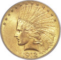 Indian Eagles, 1912-S $10 MS64+ PCGS. CAC....
