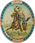 Political:3D & Other Display (1896-present), Theodore Roosevelt: Rough Rider Beer Tray....