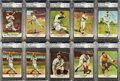 """Baseball Cards:Lots, Signed 1961 Golden Press """"Baseball Hall of Fame"""" Card Collection(10). ..."""