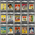 Baseball Cards:Lots, Signed Baseball Hall of Famers Reprint Card Collection (20). ...