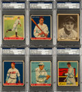 Baseball Cards:Lots, Signed 1930's Baseball Hall of Famers Card Collection (6). ...