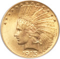 Indian Eagles, 1913 $10 MS64+ PCGS....