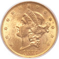 Liberty Double Eagles, 1873 $20 Open 3, Doubled Die Obverse MS62 PCGS. CAC. FS-101....