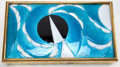 Art Glass:Other , A CAMILLE FAURÉ ART DECO ENAMEL AND METAL CIGARETTE BOX . CamilleFauré (French, 1872-1944) Limoges, France, circa 1920 . Ma...