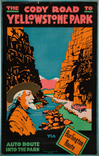 The Cody Road to Yellowstone Park Poster (Society of Poster Art Chicago, c. 1916)