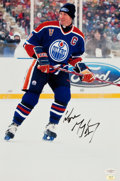 Hockey Collectibles:Photos, Wayne Gretzky Signed Oversized Photographs....