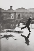 Photographs, HENRI CARTIER-BRESSON (French, 1908-2004). Behind the Gare Saint- Lazare, 1932. Gelatin silver, printed later. 14-1/4 x ...
