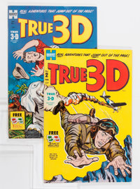 True 3-D #1 and 2 File Copy Group (Harvey, 1953-54) Condition: Average VF.... (Total: 4 Comic Books)