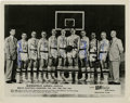 "Autographs:Photos, 1952-53 Minneapolis Lakers Team Signed Photograph . Stunning 8x10""black and white photograph with signatures from the enti..."