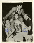 "Autographs:Photos, Minneapolis Lakers Signed Photograph Hall Of Famers. Beautiful8x10"" black and white photograph autographed by four members..."