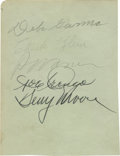 Autographs:Letters, Multi-Signed Album Page with Chuck Klein and Paul Waner. A pair oftough Hall of Fame signatures can be found among the nam...