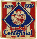 Baseball Collectibles:Others, 1939 Baseball Centennial Uniform Sleeve Patch. Excellent example ofthe original embroidered patches worn on the sleeve of ...