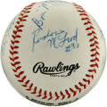 Autographs:Baseballs, 1994-95 St. John's Basketball Team Signed Baseball. A uniquecrossover memento is available here with the ONL (White) baseb...