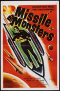 "Movie Posters:Science Fiction, Missile Monsters (Republic, 1958). One Sheet (27"" X 41""). ScienceFiction. ..."