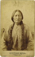 Photography:Cabinet Photos, EXCEPTIONAL BARRY IMPERIAL CABINET OF SITTING BULL. Handsomesepia-toned bust image depicts Sitting Bull gazing intently int...(Total: 1 Item)