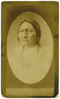 Photography:CDVs, EXTREMELY RARE CARTE DE VISITE OF SITTING BULL. Nebraska photographer W.R. Cross is believed to have taken the first... (Total: 1 Item)