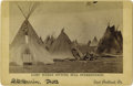 "Photography:Cabinet Photos, CABINET IMAGE OF INDIAN CAMP AT STANDING ROCK AGENCY. Althoughidentified as the ""Camp Where Sitting Bull Surrendered,"" this...(Total: 1 Item)"
