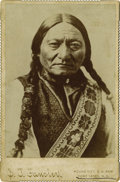 Photography:Cabinet Photos, S.T. FANSLER CABINET OF SITTING BULL. S.T. Fansler operated thepost photography studio at Fort Yates, North Dakota in the l...(Total: 1 Item)
