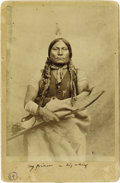 Photography:Cabinet Photos, HERRIN CABINET OF CHIEF GALL. Well-recognized ¾-length image of thegreat warrior Gall, wrapped in a buffalo skin blanket an... (Total:1 Item)