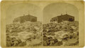 Photography:Stereo Cards, STEREOVIEW OF SIGNAL STATION AT PIKE'S PEAK. Interesting stereographic image of the U.S. signal station atop Pike's Peak. Th... (Total: 1 Item)