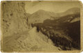Photography:Cabinet Photos, IMPRESSIVE VIEW OF THE PALISADES ALPINE PASS. Large cabinet imagedepicting the steep and precipitous Palisades Pass in Colo...(Total: 1 Item)