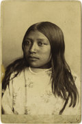 Photography:Studio Portraits, BEAUTIFUL GOFF IMAGE OF A YOUNG CROW GIRL. Orlando S. Goff was a successful and well-known Western photographer in the latte... (Total: 1 Item)