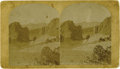 Photography:Cabinet Photos, W.H. JACKSON OVERSIZED STEREOVIEW OF PIKE'S PEAK AND THE GARDEN OFTHE GODS. Depicting a spectacular view of Pike's Peak, th...(Total: 1 Item)