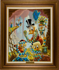 Carl Barks First National Bank of Cibola Oil Painting Original Art (c. 1987)
