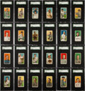 Baseball Cards:Sets, 1909-11 T206 White Border Near Set (518) With Rare Brands, Series350 Lundgren/Chi. and Old Mill Printing Error. ...
