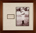Autographs:Index Cards, Circa 1950 Cy Young Signed Index Card Display....