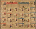 Basketball Collectibles:Others, 1989 NBA All-Star Team Rosters Signed by All Players....