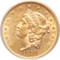 Liberty Double Eagles, 1871 $20 AU55 PCGS....