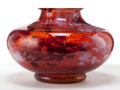 Art Glass:Other , LORRAINE GLASS VASE . Mottled red glass vase, circa 1900. Engraved:Lorraine, Made in France . 7-1/2 inches high (19.1 c...