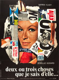 """Movie Posters:Foreign, 2 or 3 Things I Know About Her (La Société des Films Sirius, 1967). French Grande (47"""" X 63"""").. ..."""