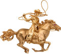 Estate Jewelry:Brooches - Pins, Gold Cowboy Pendant, Ruser. ...