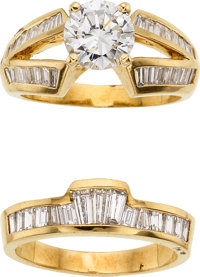 Diamond, Gold Rings
