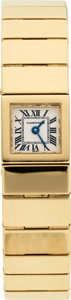 Estate Jewelry:Watches, Cartier Lady's Gold Integral Bracelet Wristwatch. ...